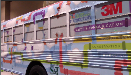 Makerspace bus drives in to METC 2016