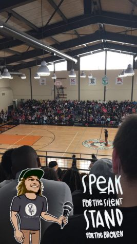 Mike Smith visits Ritenour High School