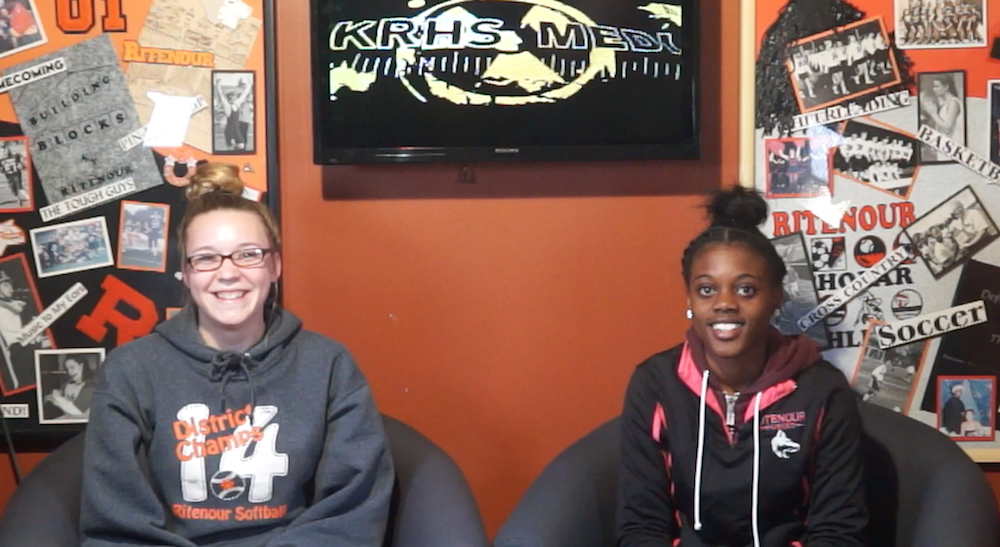 KRHS TV News co-host Izzy Clark and Montrice Bolden.