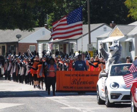 Marching band represents Ritenour in community