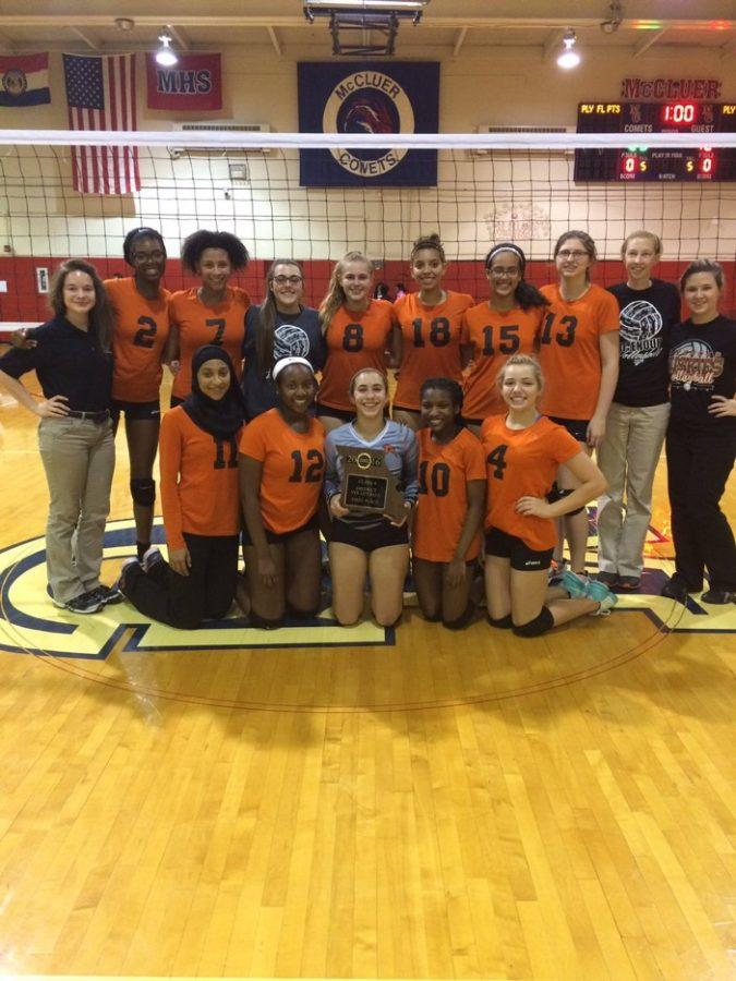 Ritenour varsity volleyball team wins districts for the first time in school history