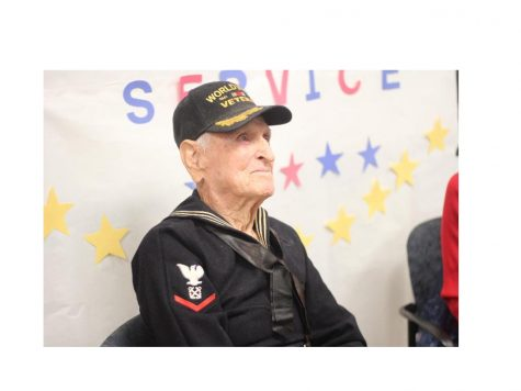 Veteran visits Ritenour high school