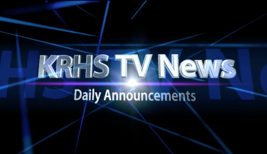 KRHS TV Daily News – WED, Dec 7th