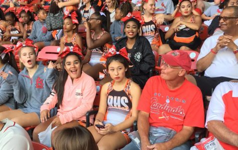 RHS cheer performs at Busch Stadium