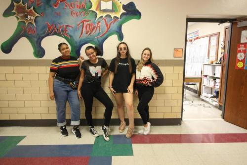 Seniors Trinity Merritt, Alissa Smith, Brianna Johnson, and Emma Bange