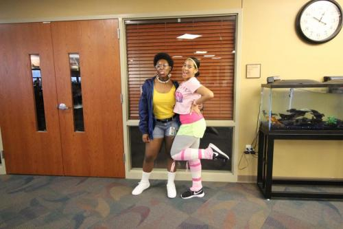 Seniors Jada Freeman and Chelsea Drain