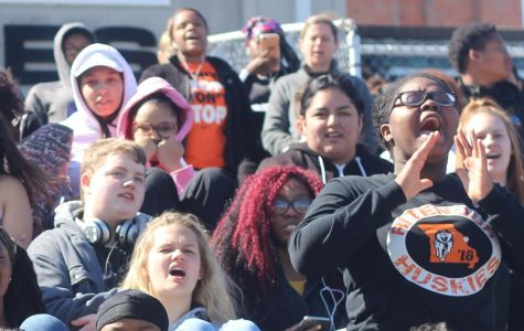 Students participate in protest of gun violence