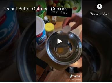 Quarantine Cooking with Darleen Garcia - Peanut Butter Oatmeal Cookies