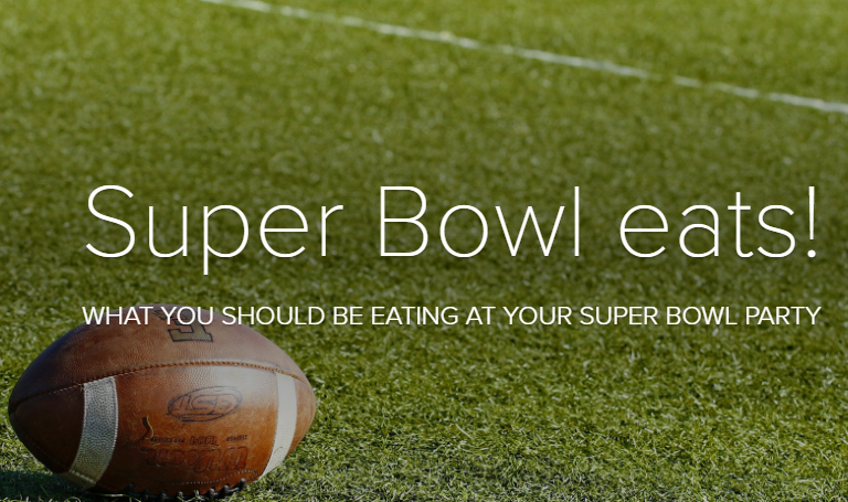Super Bowl eats