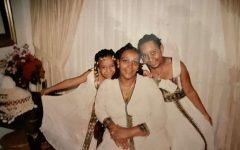 Senior Hasset Asfaw (right) often had to translate for her parents when she was younger.